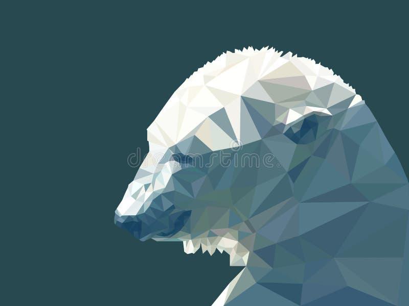 Vector illustration of low poly polar bear vector illustration