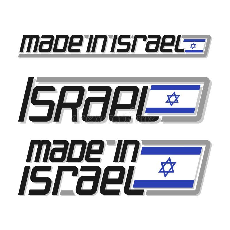 Vector illustration `made in Israel` royalty free illustration