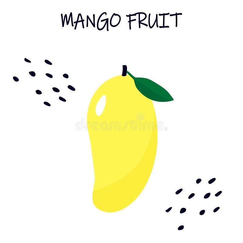 Vector illustration of mango - tropical exotic fruit. Modern flat design royalty free illustration