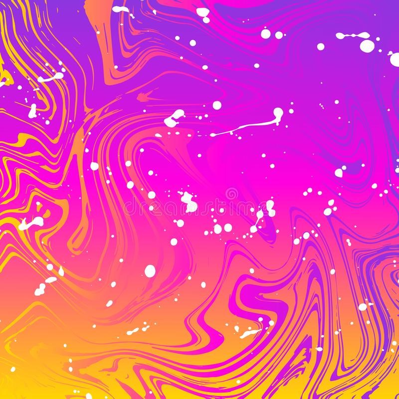 Wave gradient texture with bright colors stock illustration