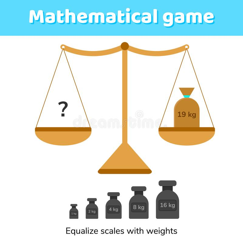 Vector Illustration. Math Game For Kids Of School And Preschool ...