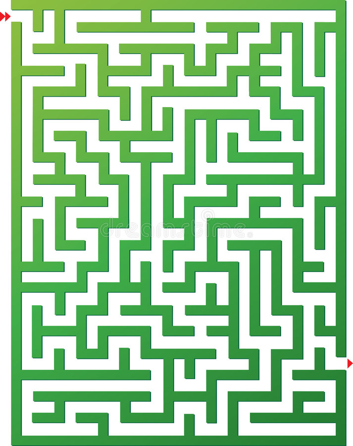 Vector illustration of maze stock image