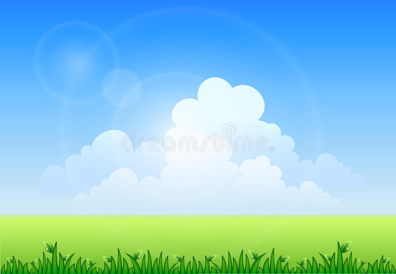 Vector Illustration Of Meadow Royalty Free Stock Images