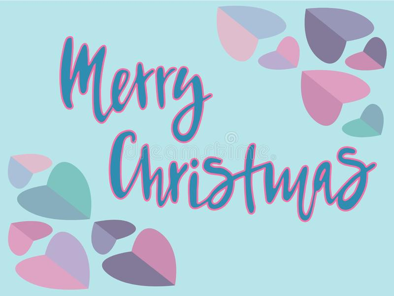 Vector illustration of Merry Christmas text for typography poster, calendar, greeting card or postcard. stock illustration