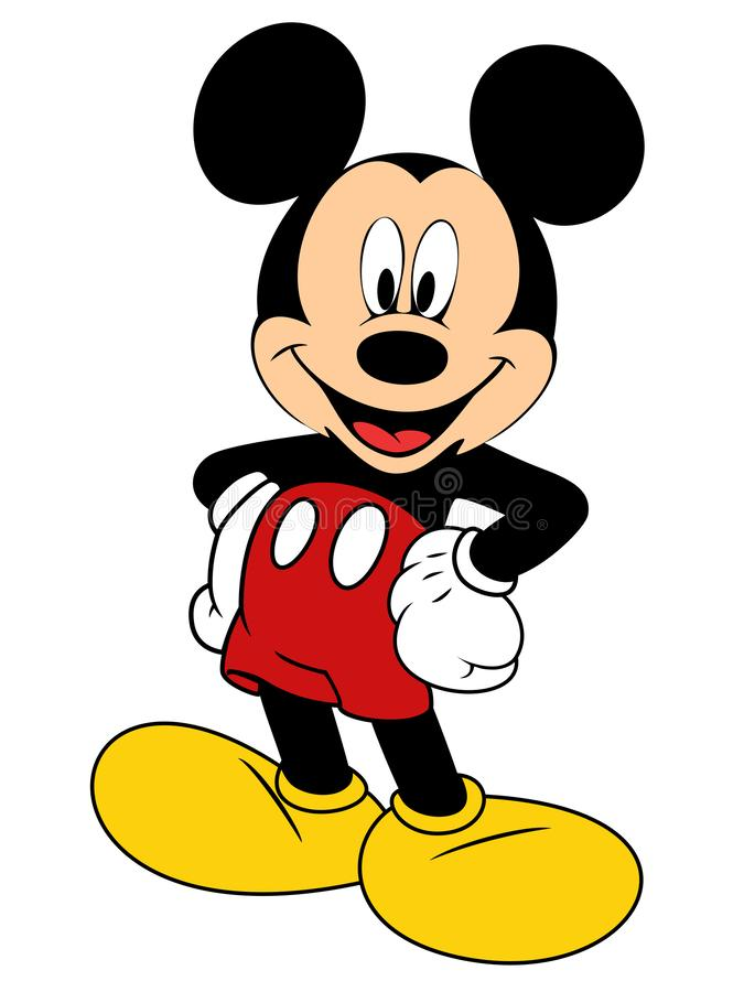 Vector illustration of Mickey Mouse. The old type. JPG and Eps