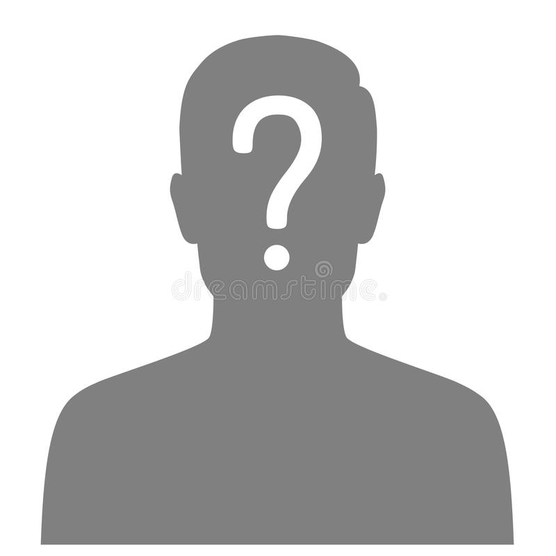 Missing person, graphic wanted poster, lost anonymous stock illustration