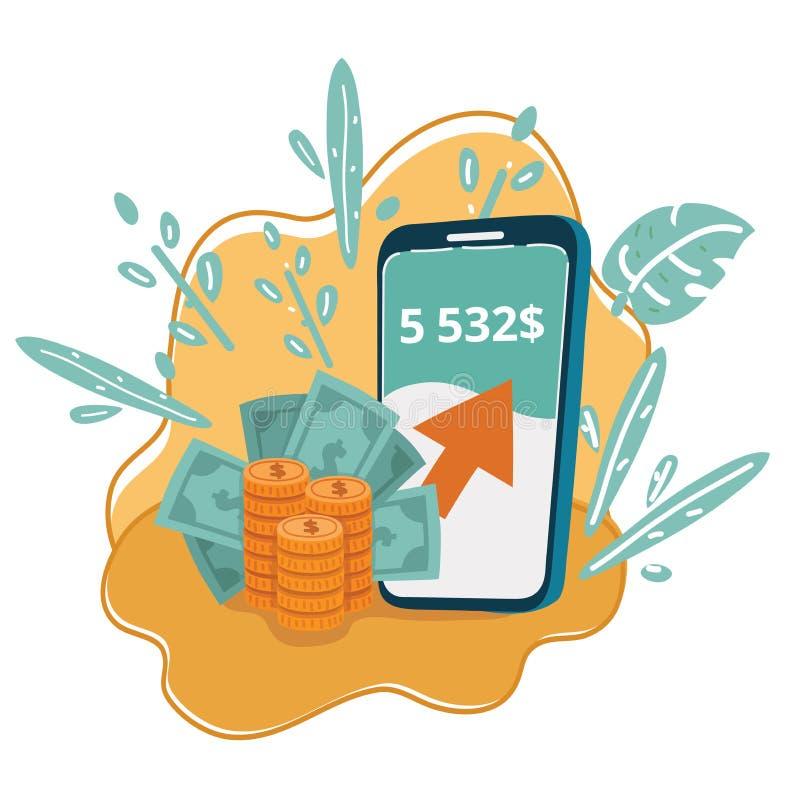 New digital money concept. vector illustration