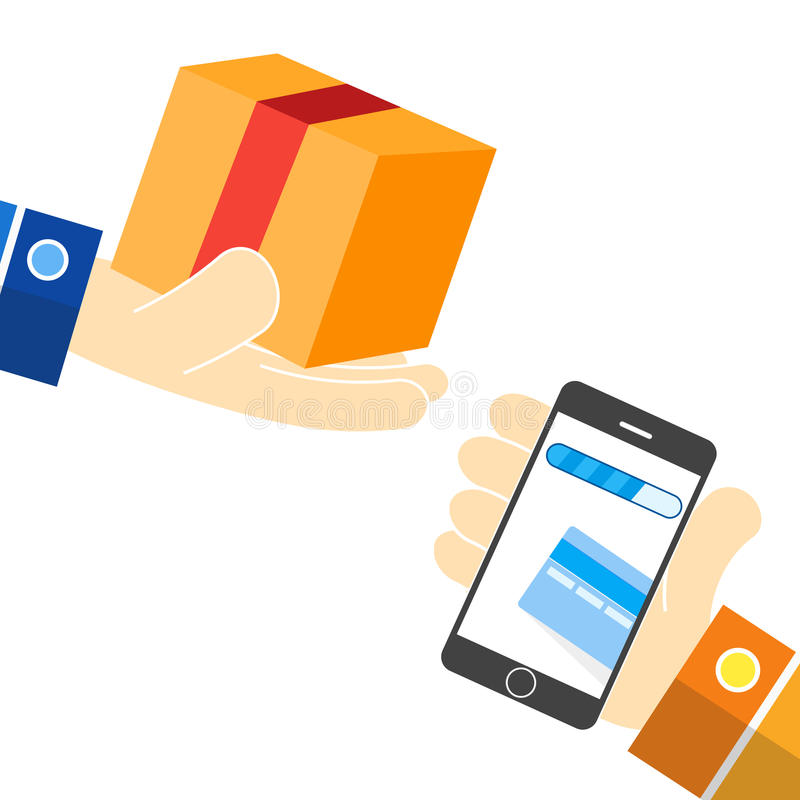 Vector illustration Mobile marketing icons vector illustration