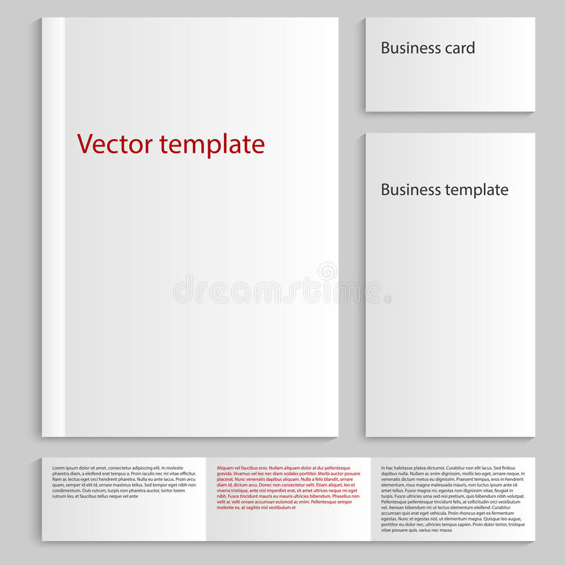 Vector Illustration Of A Mock Up Card A4. Business Card Template ...