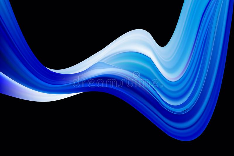 Vector illustration Modern abstract banner background with 3d twisted blue flow liquid shape. Acrylic paint design. Modern abstract banner background with 3d vector illustration