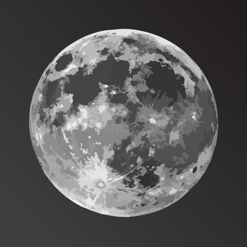 Vector illustration of the moon stock illustration