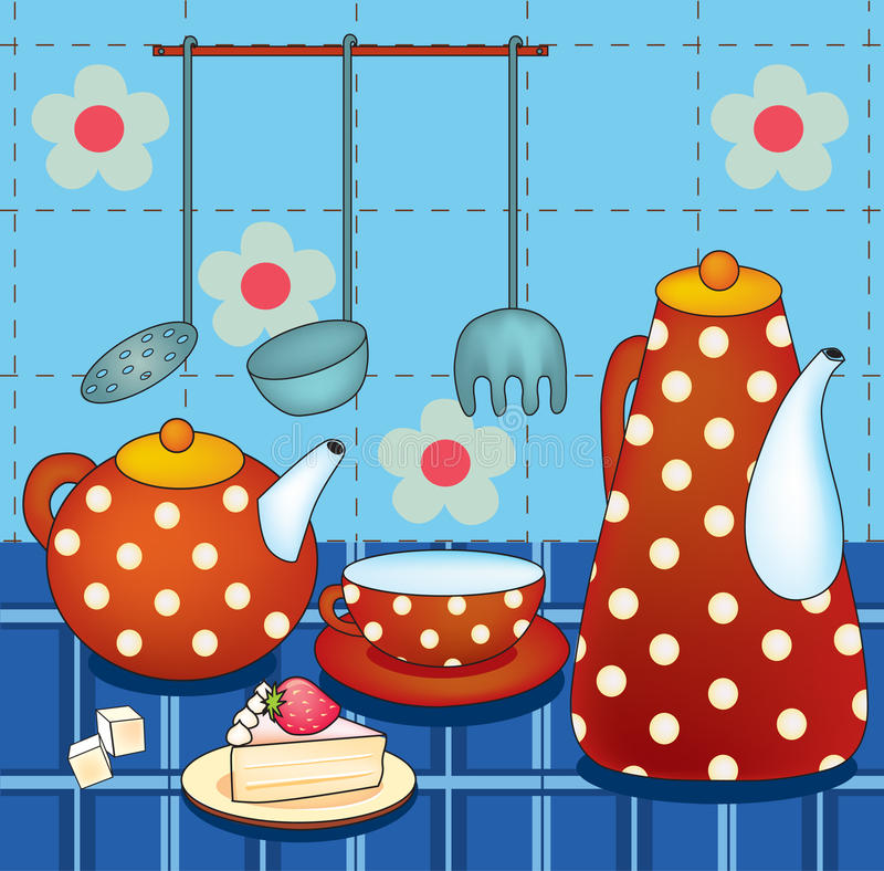Download Vector Illustration Of Morning Still Life Stock Vector - Illustration of illustration, dessert: 16467423