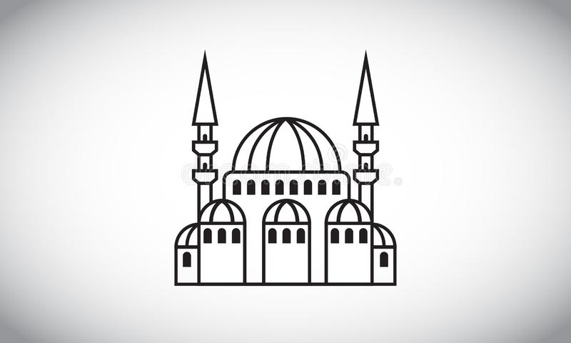 Vector illustration of the mosque royalty free illustration