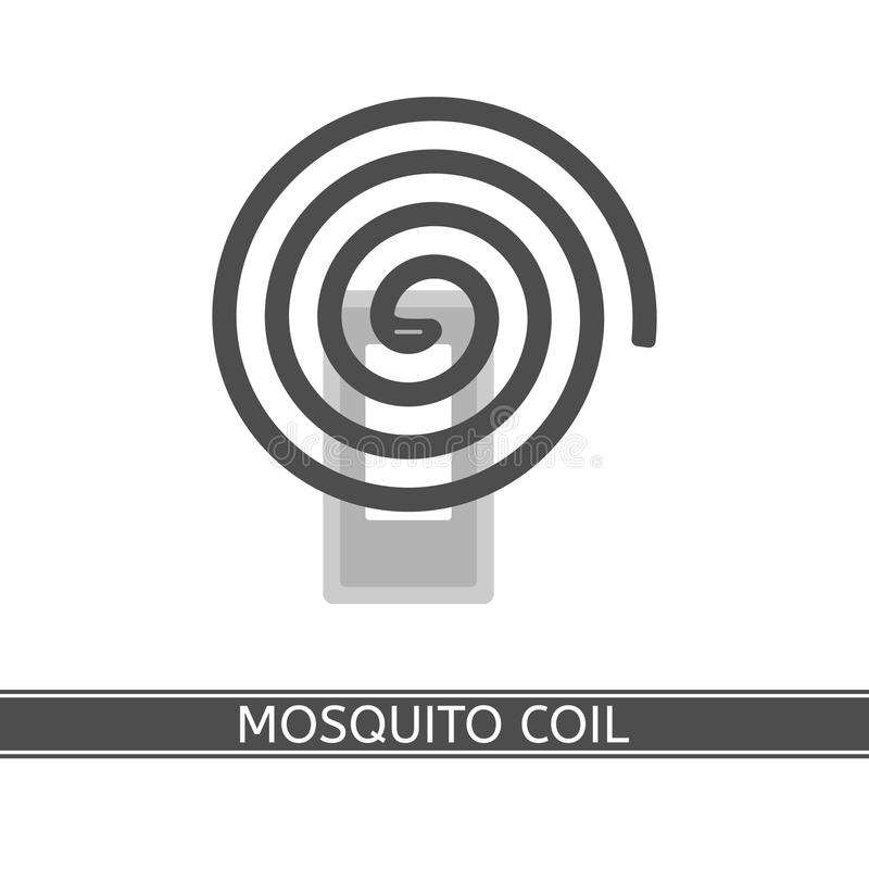 Mosquito Repellent Coil icon. Vector illustration of mosquito repellent coil isolated on white background in flat style stock illustration