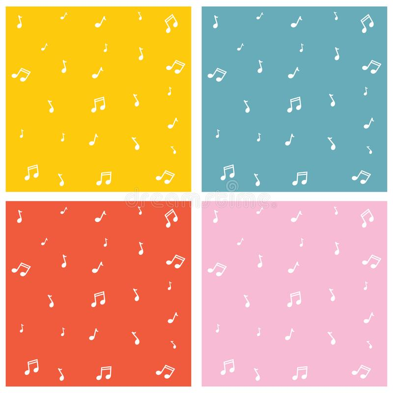 Vector Illustration Of Music Notes Background vector illustration