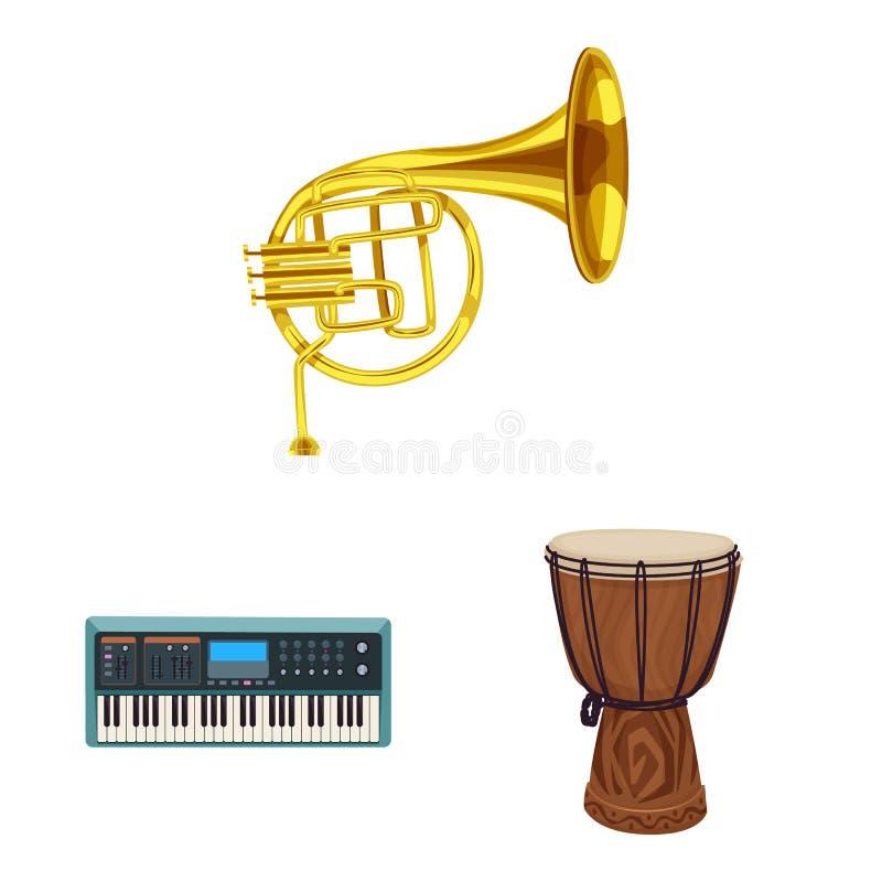 Vector design of music and tune logo. Collection of music and tool stock vector illustration. vector illustration