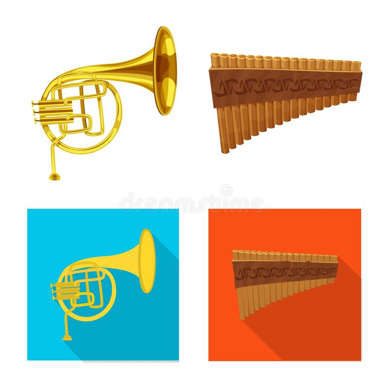Vector design of music and tune sign. Set of music and tool stock symbol for web. Vector illustration of music and tune logo. Collection of music and tool stock stock illustration