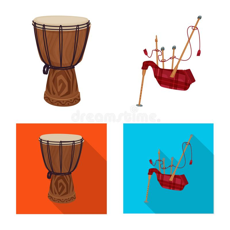 Vector illustration of music and tune logo. Set of music and tool vector icon for stock. Isolated object of music and tune icon. Collection of music and tool stock illustration
