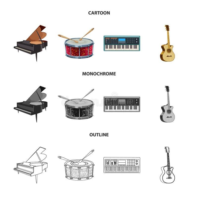Vector design of music and tune icon. Collection of music and tool stock vector illustration. Vector illustration of music and tune symbol. Set of music and stock illustration