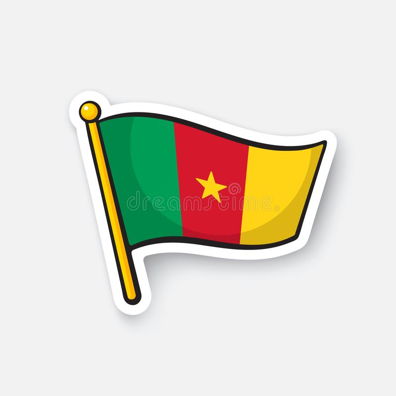 Download sticker national flag of cameroon stock vector illustration of geography holiday 110233349