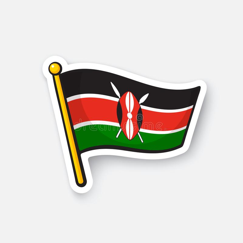 Download sticker national flag of kenya stock vector illustration of decal holiday 110233405