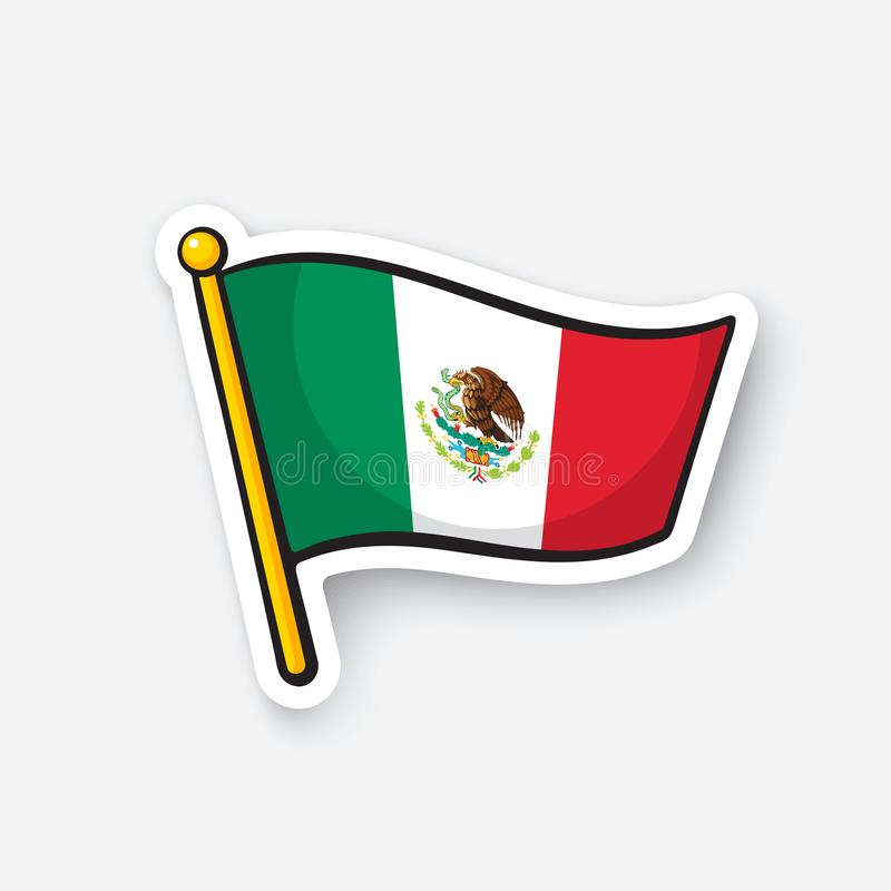 Sticker National Flag Of Mexico Stock Vector Illustration Of