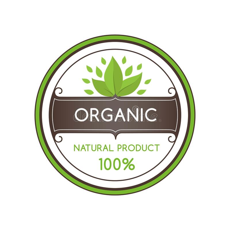 Vector illustration of Natural Organic Ingredients royalty free stock photo