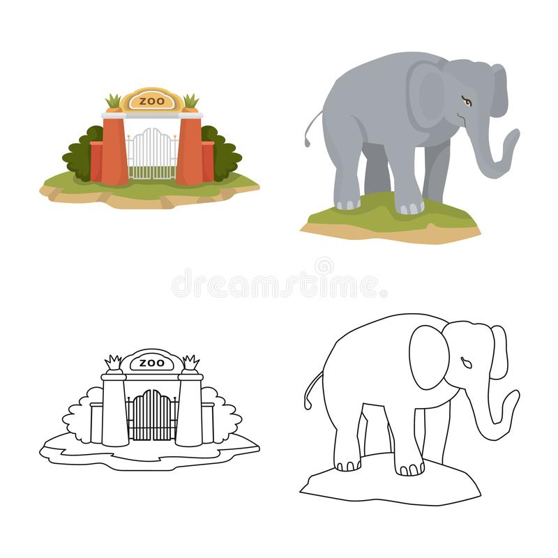 Vector illustration of nature and fun icon. Set of nature and entertainment vector icon for stock. Isolated object of nature and fun symbol. Collection of royalty free illustration