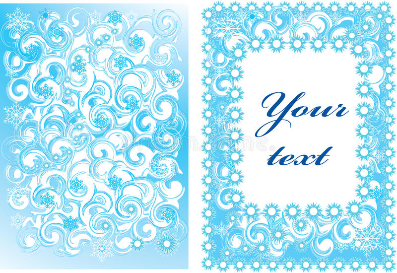 Vector illustration of a New Year's background royalty free stock photography