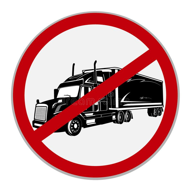 No semi trucks allowed sign. Vector illustration vector illustration