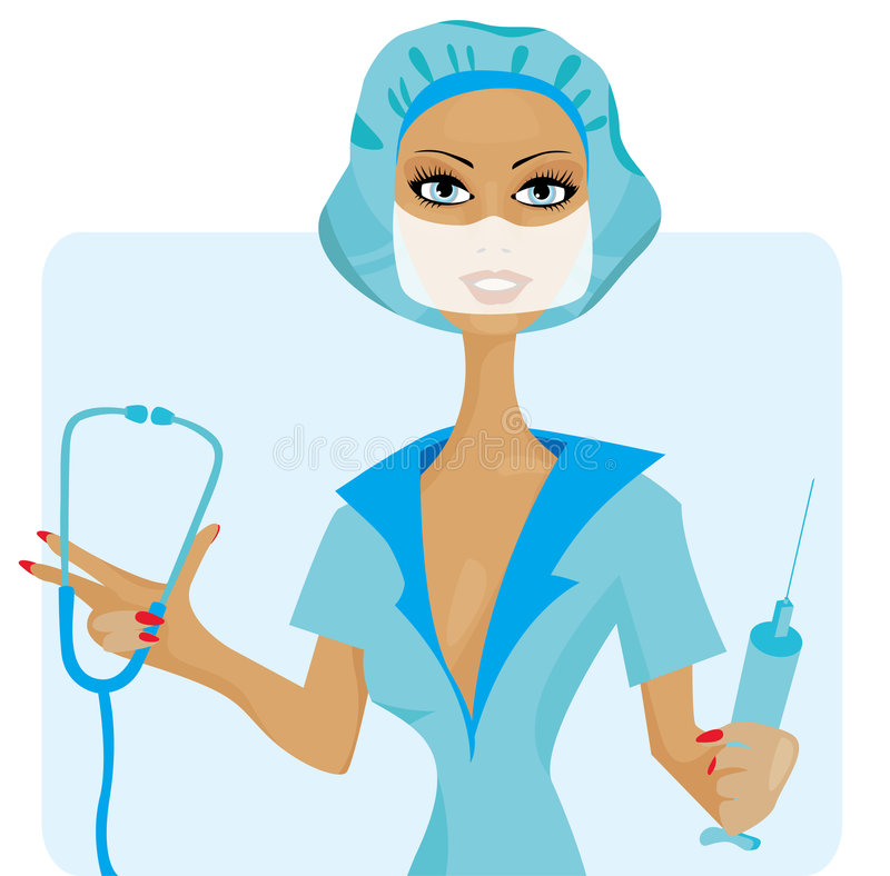 Download Vector Illustration Of Nurse Stock Vector - Image: 6923583