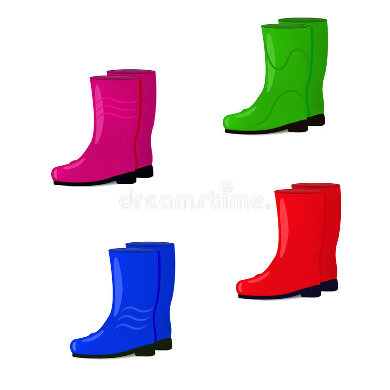 Free Vector Illustration Of A Set Of Rubber Boots Royalty Free Stock Image - 77154966