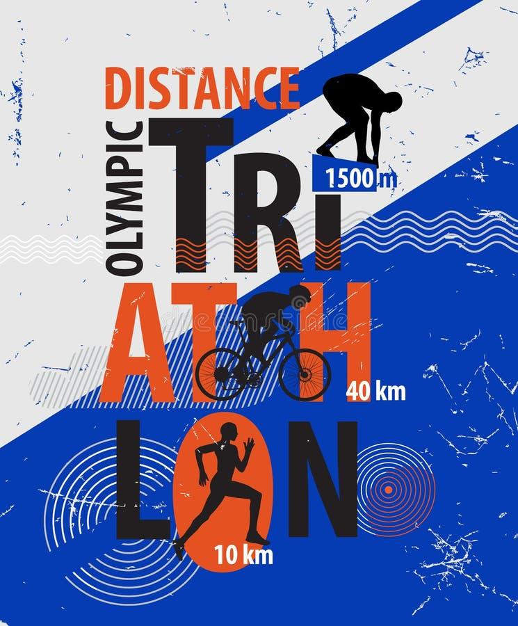 Free Vector Illustration Of A Triathlon. Stock Photography - 52705682