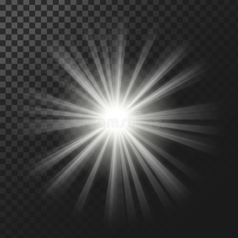 Free Vector Illustration Of A White Glowing Light Effect With Rays Royalty Free Stock Images - 93492849