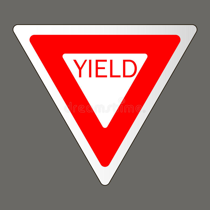 Free Vector Illustration Of A Yield Road Sign Stock Images - 94226004