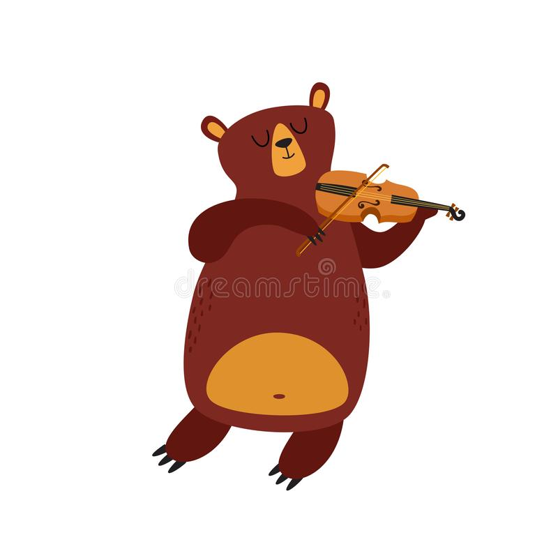Free Vector Illustration Of Cartoon Funny Bear Isolated On White Background. Royalty Free Stock Photography - 154152767