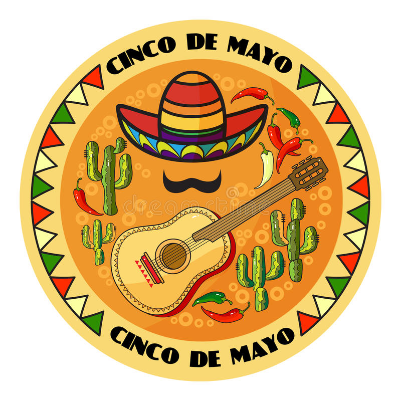 Free Vector Illustration Of Cinco Ge Mayo Day. Royalty Free Stock Image - 91548326