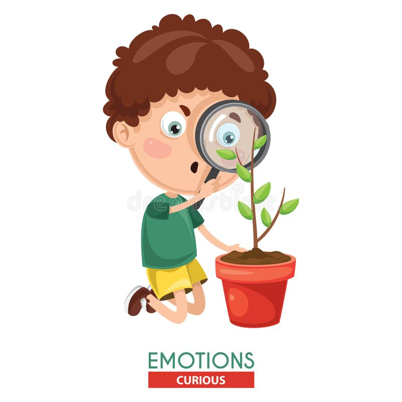 Free Vector Illustration Of Curious Kid Emotion Stock Image - 113686651