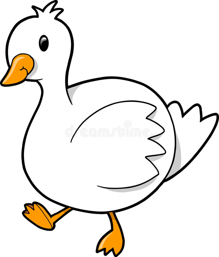 Free Vector Illustration Of Duck Goose Stock Photos - 9631753