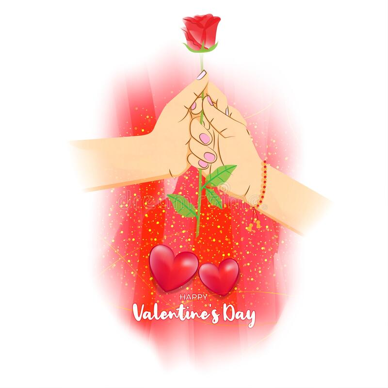 Free Vector Illustration Of Happy Valentine`s Day Concept Greeting. Royalty Free Stock Images - 207233689