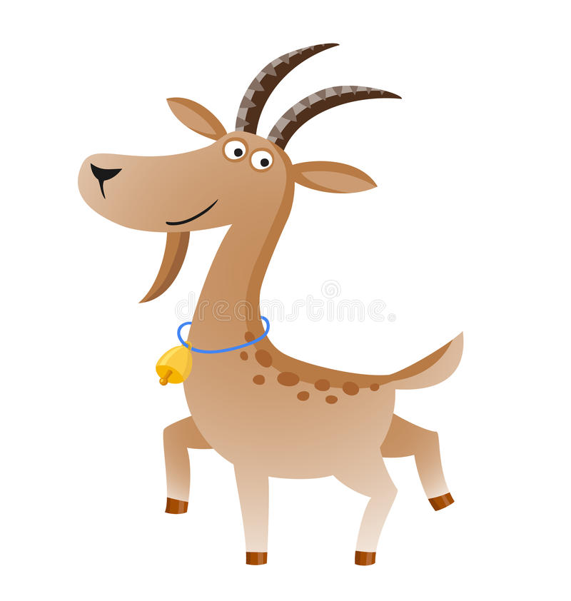 Free Vector Illustration Of Isolated Goat With Gold Bell Stock Photography - 88226222