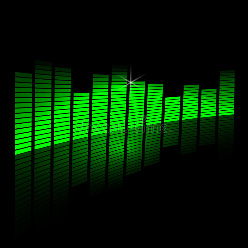 Free Vector Illustration Of Music Equalizer Beam On Royalty Free Stock Images - 44910799