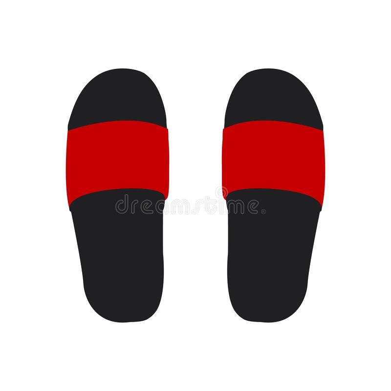 Free Vector Illustration Of Pair Of Beach Slippers Royalty Free Stock Photos - 145326778