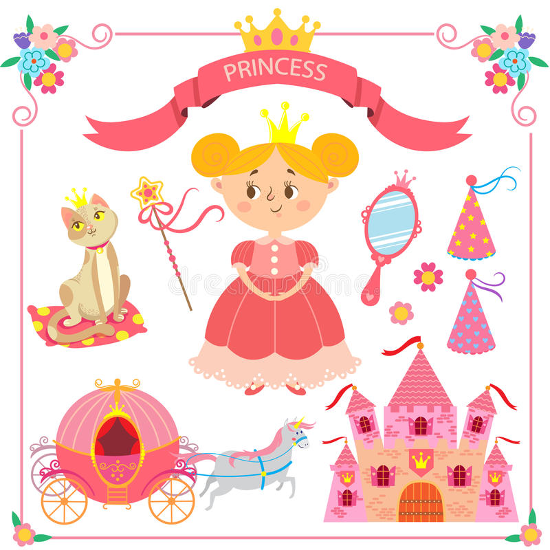Free Vector Illustration Of Pink Princess Royalty Free Stock Photography - 73818077