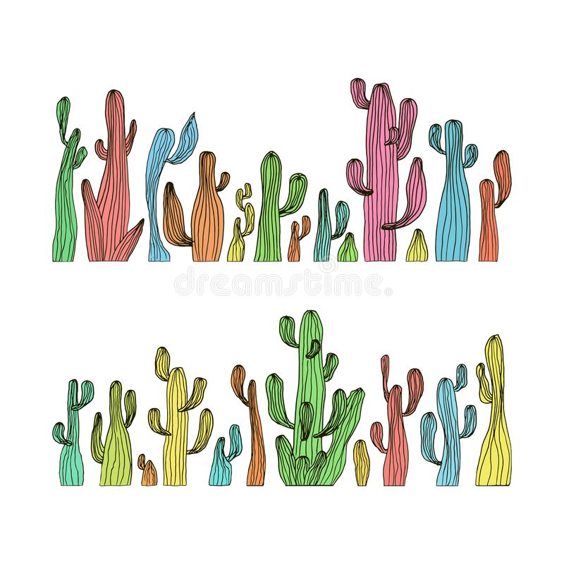Free Vector Illustration Of Saguaro Cactus. Color Cactus Set Royalty Free Stock Image - 112507486