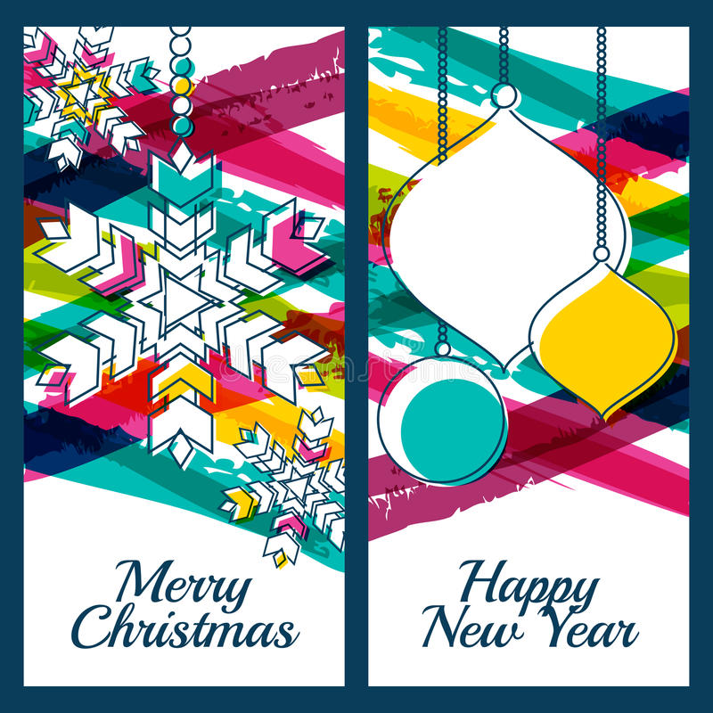 Free Vector Illustration Of Snowflake, Fir Tree Toys, Baubles And Col Royalty Free Stock Photos - 58630308