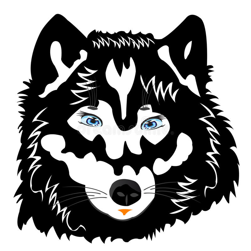 Free Vector Illustration Of The Wolf On White Stock Photography - 21968022