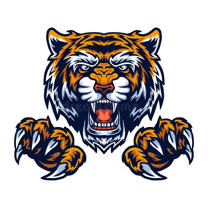 Free Vector Illustration Of Tiger And Claws Stock Photos - 162314333