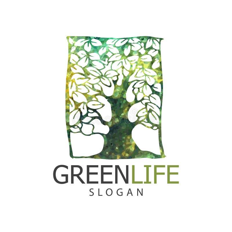 Tree logo design. Vector illustration og tree logo or icon. Design template, badges, labels and logotype for business stock illustration