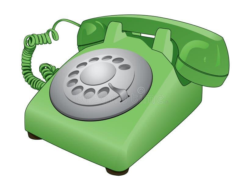 Retro Rotary Phone Vector Cartoon royalty free illustration